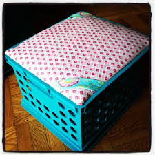 milk crate stool with storage i m making these today