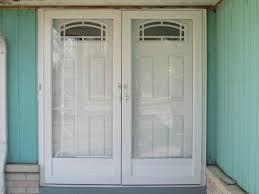 double entry doors glass storm doors