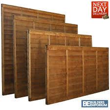 wood fence panels. Wooden Garden Lap Fence Panels Overlap Fencing Panel 6ft 5ft 4ft 3ft Wood S