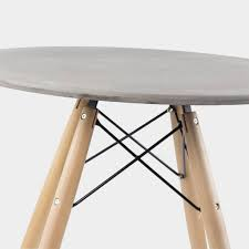 eames round concrete table