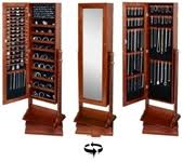 gold silver safekeeper double sided jewelry armoire