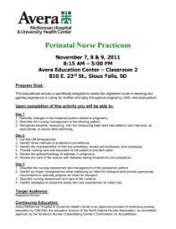 Perinatal Nurse Perinatal Nurse Practicum