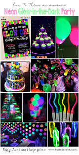 Parties ideas for teenage girls Kara Frosted Events Party Themes Neon Party Glow In The Dark Party Ideas