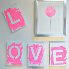 Diy Canvas Beautiful Diy Canvas Art With Kids Love In 4 Easy Steps Fab