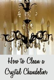 inspiring best way to clean a crystal chandelier