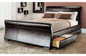 king bed leather headboard. Exellent Headboard Awesome King Size Bed With Storage For Your Comfortable Rest On Leather Headboard E