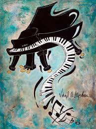 piano painting painting art keyboard artwork boogie down artwork by virgil