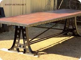 Vintage Industrial Inspired Furniture Dining Table on Wookmark
