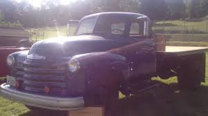 1950 Antique Old 4400 Chevy Chevrolet Dump Flat Bed Truck - YouTube