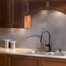 Steel Backsplash Kitchen Fasade 24 In X 18 In Rib Pvc Decorative Backsplash Panel In