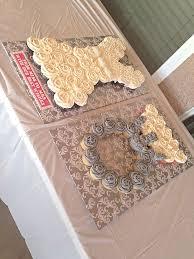 Wedding Dress And Diamond Ring Pull Apart Cupcake Cake Idea For