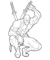 Deadpool Coloring Pages Printable Coloring Pages Kids Coloring
