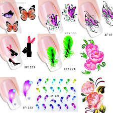 Wholesale 60sheets Xf1181 Xf1240 New Water Transfer Nail Art ...