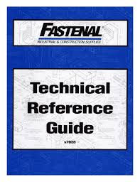 Fastenal Torque Chart Fastenal Technical Reference Guide