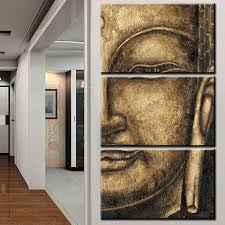 framed 3pcs abstract old golden buddha modern home decor canvas print painting  on home wall art painting with framed 3pcs abstract old golden buddha modern home decor canvas