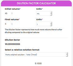 Dilution Factor Calculator Hemocytometer