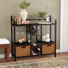 sofa table with wine storage. Fleur De Lis Living Clarkstown Scrolled Bar With Wine Storage \u0026 Reviews |  Wayfair Sofa Table Wine Storage E