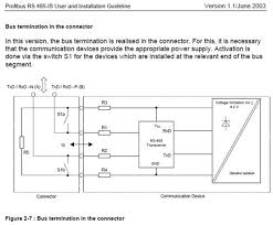 faq s about profibus procentec terminating resistor rs 485 is