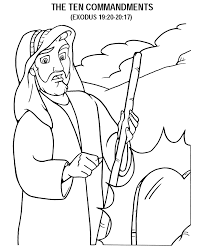 Small Picture TheTen Commandments Coloring Page