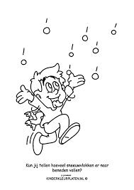 Kleurplaat Sneeuwvlokken Spelletjes
