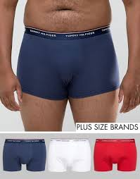 tommy hilfiger plus stretch 3 pack trunks in red white navy men red peacoat white underwear tommy hilfiger gorgeous