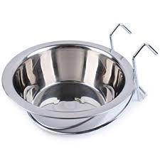 Fliyeong <b>1 Pcs</b> Pet <b>Stainless Steel</b> Hanging Bowl Pet Cage Feeding ...