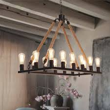 lighting fixtures industrial. Antique 14 Light Rope Rectangular Industrial Style Lighting For Decor 3 Fixtures