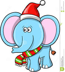 christmas elephant clip art.  Christmas Christmas Elephant Vector Intended Clip Art E