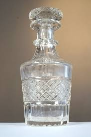cut crystal whiskey decanter netherlands approx 1890