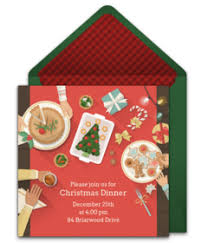 free christmas dinner invitations christmas online invitations punchbowl