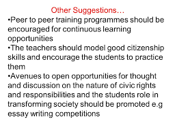 ethics violence and civic education system in ia seminar 22 other suggestions