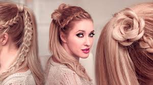 Goddess Hair Style high ponytail hairstyles tutorial for long hair flower braided 5686 by stevesalt.us