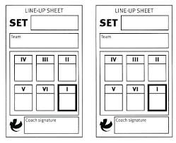 Volleyball Lineup Card Template Roster Sheet Inside Tailoredswift Co