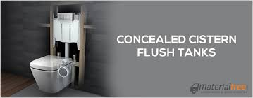concealed cistern tanks or wall hung