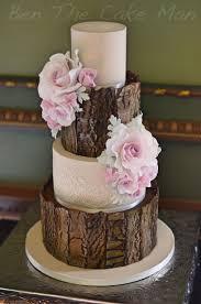 Rustic Bark Wedding Cake Cakesweddinggroomandmore