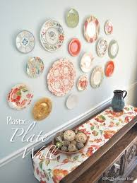 Fine Kitchen Decorations For Walls Plastic Plate Wall Hack Throughout Inspiration