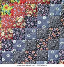 Homemade Patchwork Quilt Background Colorful Rustic Stock Photo ... & Homemade Patchwork Quilt Background With Colorful Rustic Ethnic Handmade  Geometric Pattern. Vintage Scrappy Quilting Texture Adamdwight.com