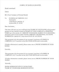 letter of guarantee sample example format bank guarantee letter in pdf