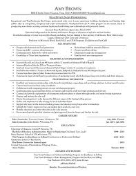 Real Estate Resume Templates Mortgage Advisor Resume Commercial Real ...