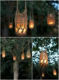 rope mason jar lights. Rustic Hangers For Wedding Decoration. Candle JarsMason Jar PlanterOutdoor LightingOutdoor Rope Mason Lights