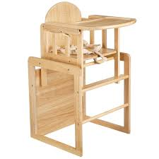 wooden high chair converts to table and designs
