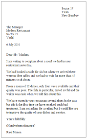 Formal Letter English Example Of A Formal Letter Places To Visit Formal Letter Writing