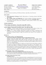 Resume Format In Latex Luxury Good Resume Formats Resume Templates