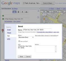 nav system from google maps
