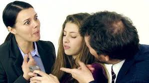 Image result for Mother and Father angry with Daughter