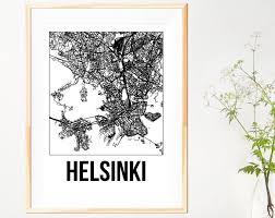 helsinki city map print on coastal wall art melbourne with city map prints southsea studio