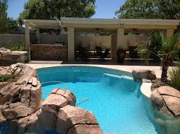 Residential Swimming Pool with Rock Quarry Edge