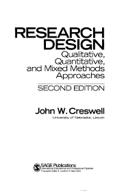 Creswell Research Design 2003 Creswell A Framework For Design