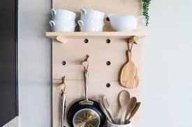 diy wall mounted pot rack