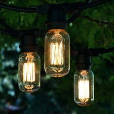 100 ft outdoor string lights industrial lamp globe patio bulb black commercial medium light with vintage